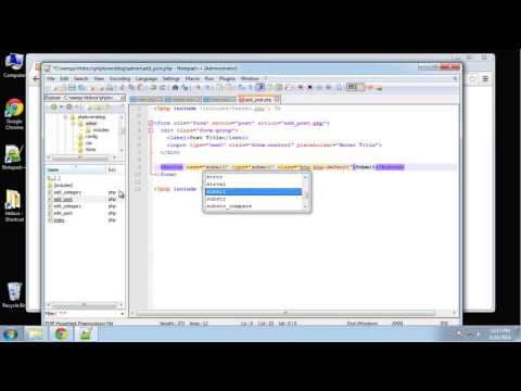 Learn how to create a PHP Lovers Blog using PHP and MySQL - Part 5