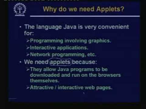 Lecture -28  Java Applets -Part:I