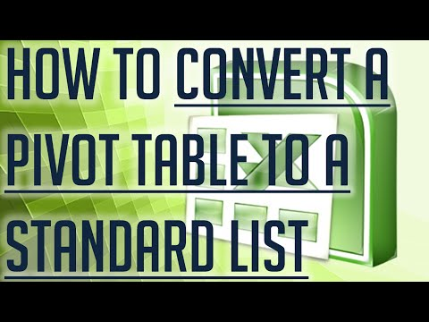 [Free Excel Tutorial] HOW TO CONVERT A PIVOT TABLE TO A STANDARD LIST - Full HD