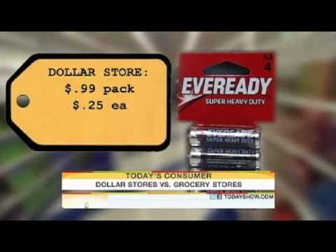 Who has better bargains, grocers or dollar stores?