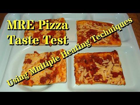 MRE Pizza Taste Test -- Using Three Heating Methods