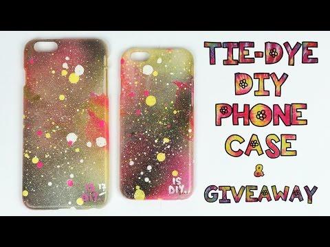 Giveaway Tie-dye DIY phone case