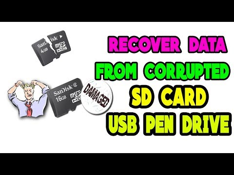 How to Recover Data from a Corrupted SD Card USB Flash (2018 Method)