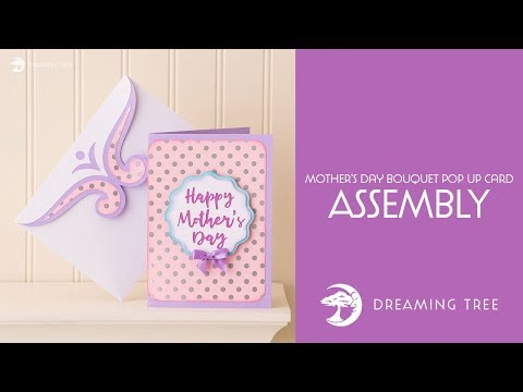 SVG File - Mother's Day Bouquet Pop Up Card - Assembly Tutorial