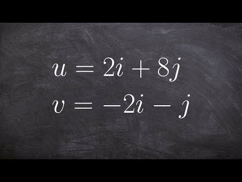 Pre-Calculus - How to find the angle between two vectors written as a linear combination