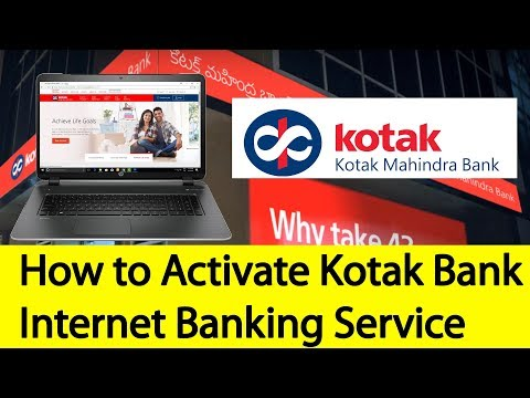 How to Activate Kotak Bank Internet Banking Service | Tamil Banking
