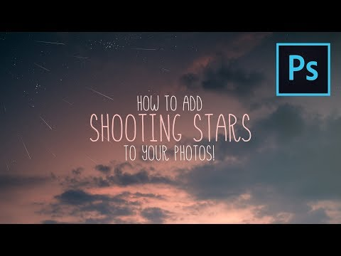 How To Add SHOOTING STARS To Your PHOTOS! Photoshop Tutorial