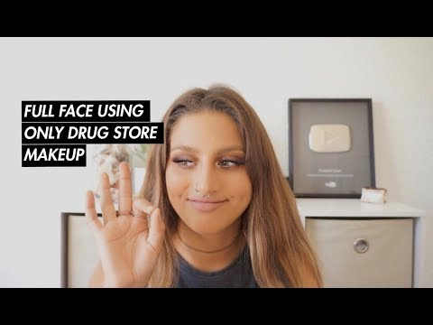 FULL FACE USING ONLY DRUG STORE MAKEUP