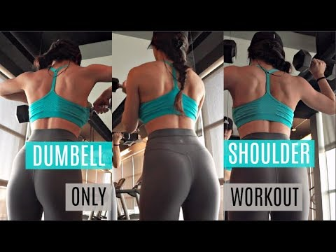 DUMBBELL SHOULDER WORKOUT | What I Eat In A Day