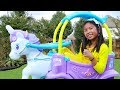 Download Wendy Pretend Play with Unicorn Princess Carriage Ride-On Toy MP3,3GP,MP4