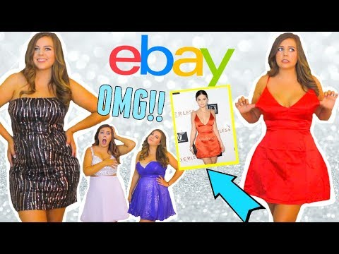 Trying on $10 Ebay Homecoming Dresses! Was it a SCAM??