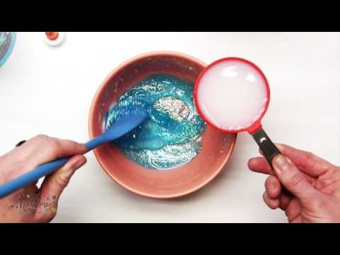 Two Ingredient Glitter Slime with Liquid Starch