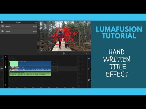 Hand Written Text Effects In LumaFusion | Tutorial