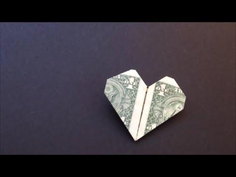 Easy Dollar Bill Heart Origami