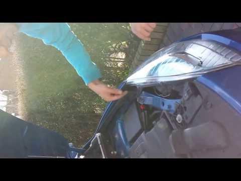 How to change a Renault Megane III MK3 front fog lamp /fog bulb/ spot light