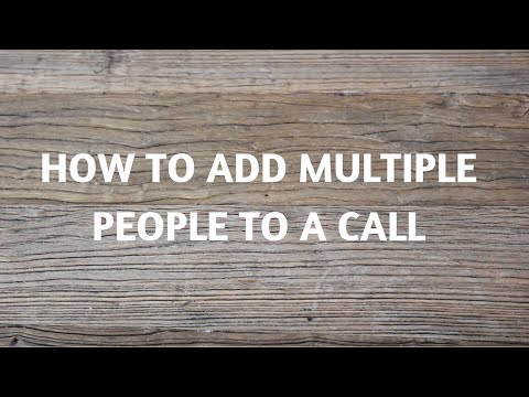 How To Add Multiple People To A Call (Group Call)