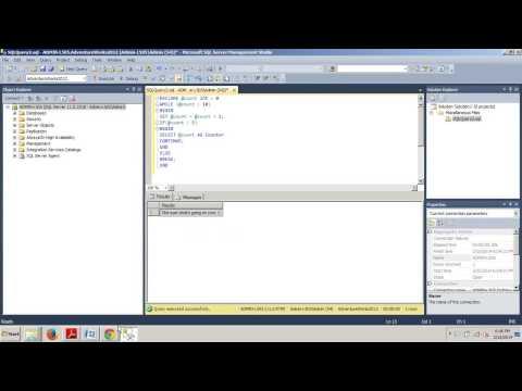SQL Server Tutorial 53: Controlling flow keywords using T-SQL