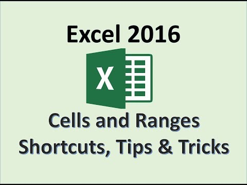 Excel 2016 - Selecting a Range - How To Select Ranges and Cells in Microsoft Windows 10 -Cell Ranges