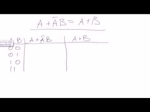 Boolean algebra #7: Truth tables - example problems