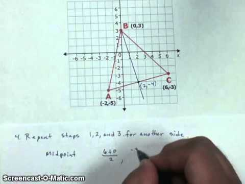 How to find a centroid on the Coordinate Plane