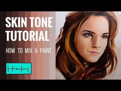 How to paint skin tone : Mixing and Painting tutorial by Haze Long