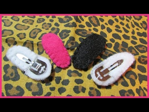 How to cover Metal Hair Clips No.1 - Covering Hair Clips with felt - Easy Tutorial