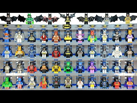 Epic LEGO Batman Minifigures includes every Official Lego Batsuit KnockOffs Custom & MOC Collection