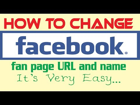 How to change facebook fan page URL and name (Bangla)