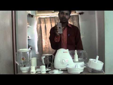 BAJAJ FX11 Food Processor DEMO (watch HD) (READ DESCRIPTION)