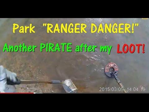 Metal Detecting a Beach.  Park Ranger confrontation!