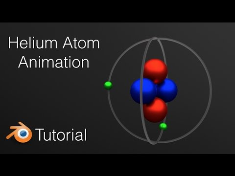 Helium Atom Animation Blender Beginner Tutorial (Cycles)