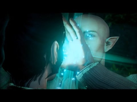 Dragon age Inquisition Engaging Solas Waterfall romance