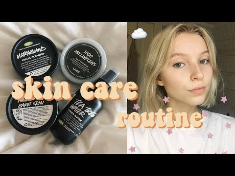 MY EVERYDAY SKIN CARE ROUTINE 2017! (LUSH) | Rebecca Ellie