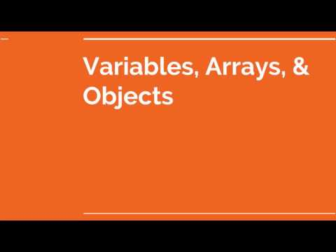 VARIABLES, ARRAYS, & OBJECTS | Simple Javascript Project Tutorial & Training