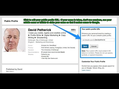 how to create your own LinkedIn profile URL