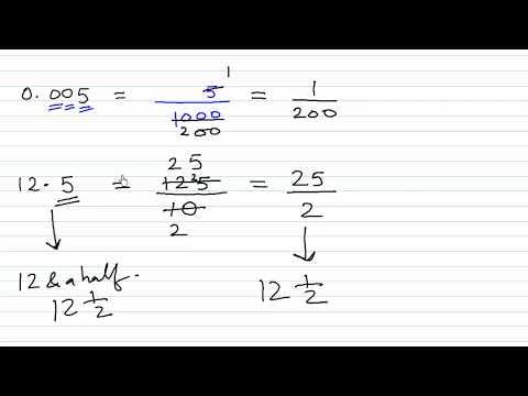 Decimals to Fraction