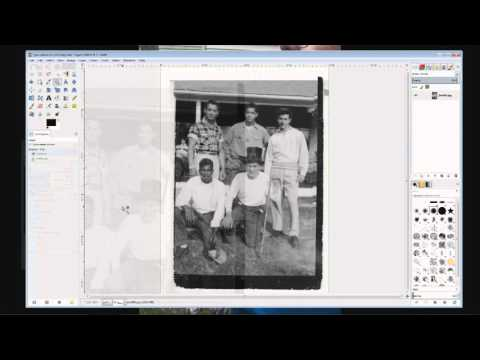How To Fix An Old Photo With Gimp Part VI Completely Fixed