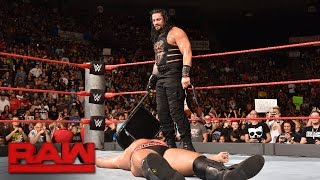 Roman Reigns vs. Rusev - United States Championship Match: Raw, Sept. 26, 2016