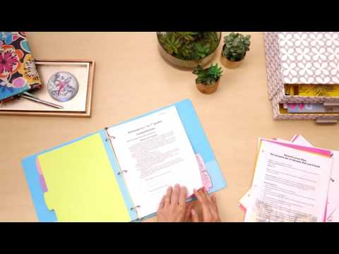Bling Out Your Binder with Avery® Big Tab™ Reversible Glitter Dividers