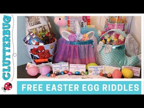 FREE Easter Egg Hunt Riddles and Basket Ideas