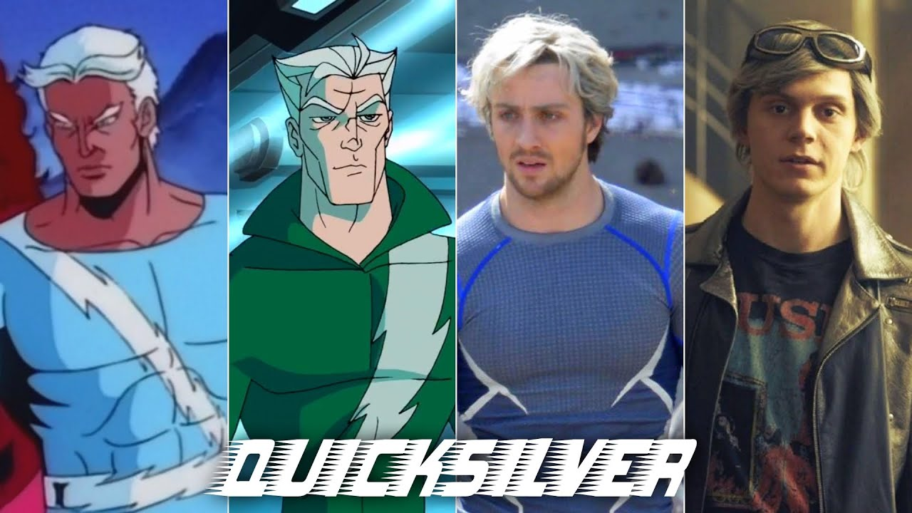 Evolution of Quicksilver in movies and cartoons (60fps)