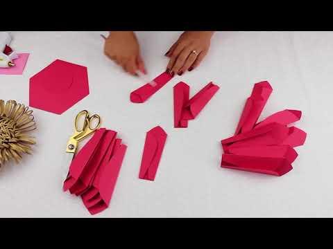 DIY Paper Flower Tutorial using Template #20 -  Variation #2