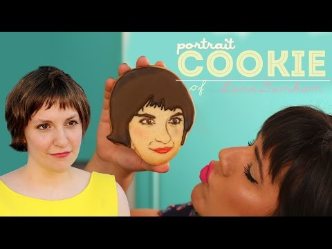 HOW TO MAKE PORTRAIT COOKIE - Lena Dunham's realistic cookie