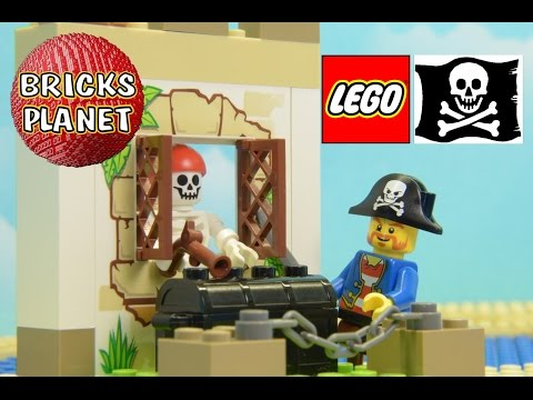 Pirate Treasure Hunt 10679 LEGO Pirates - Stop Motion Review