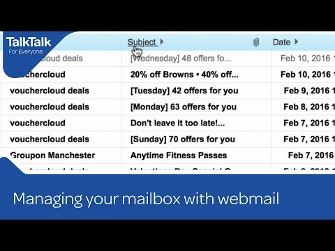 Managing your mailbox with webmail