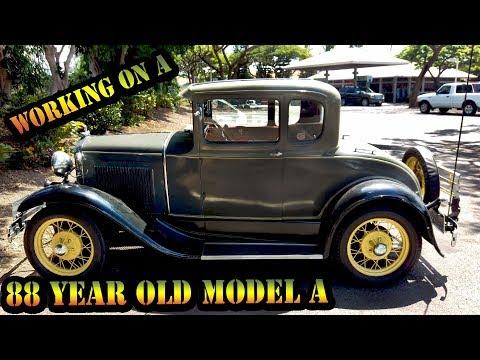 Working An 88 Year Old Classic Car - Classic Car In Hawaii -1930 Ford Model A -Braddahs Off Da Shore