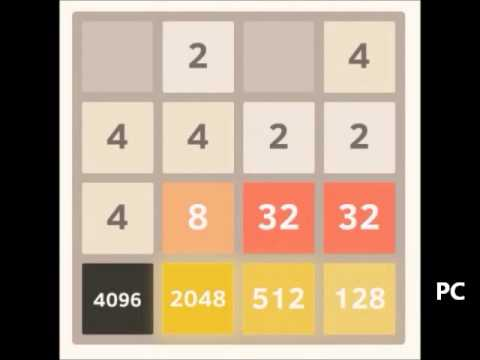 Beating 2048: 8192 tile part 4 of 4 - from 4096 & 2048 to 8192 tile
