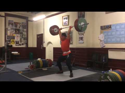 Sonny Webster weightlifting Training video 22/10/14