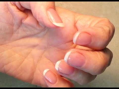 How To Rebase Acrylic Fingers Nails.