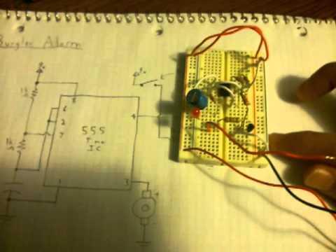 Electronics: 555 Timer Triggered Alarm Circuit